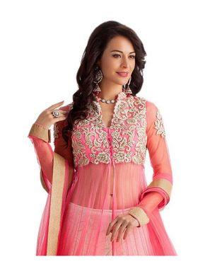 Fabfiza Embroidered Net Semi Stitched Salwar Suit_FB-6435