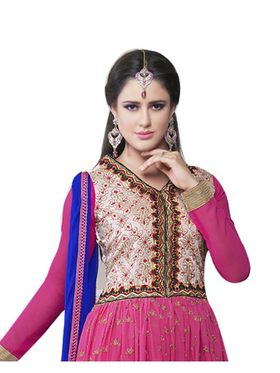 Fabfiza Embroidered Georgette Semi Stitched Salwar Suit_FB-6486