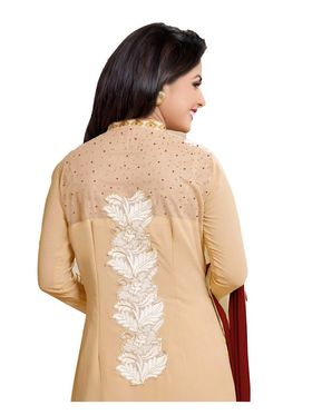 Fabfiza Embroidered Georgette Semi Stitched Straight Suit_FBHN4-69006