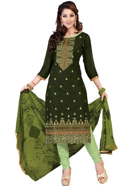 Fabfiza Embroidered Cotton Semi Stitched Straight Suit_FBIM-01