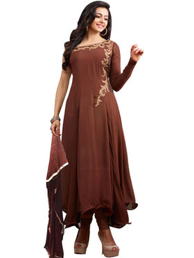 Fabfiza Embroidered Georgette Semi Stitched Anarkali Suit _FBPH14-2038