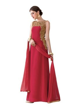 Fabfiza Embroidered Georgette Semi Stitched Anarkali Suit _FBVR-107