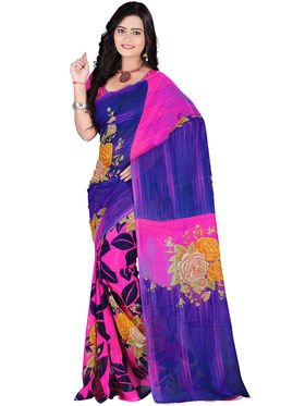 Florence Faux Georgette  Printed  Sarees FL-10977
