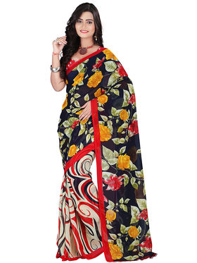 Florence Faux Georgette  Printed  Sarees FL-10979