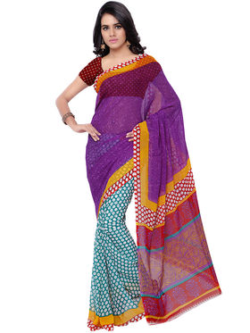 Florence Printed Faux Georgette Sarees -FL-11243