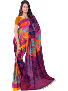 Pack of 3 Florence Printed Faux Georgette Saree -fs12
