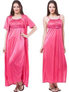 Pack of 2 Fasense Satin Plain Nightwear - DP111 B