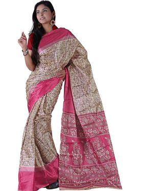 Florence Art silk Printed Saree - Multicolor - FL-10377