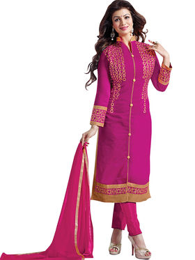 Florence Cotton Embroidered Dress Material - Pink - SB-2811