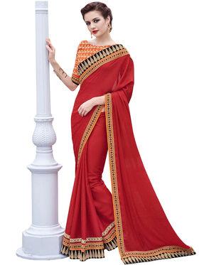 Bahubali  Crepe Jacquard Embroidery Saree -GA20017