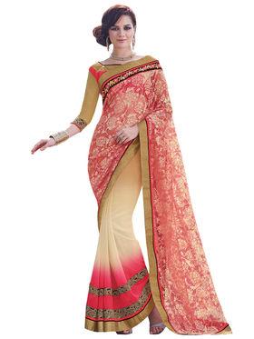 Bahubali Georgette and Rasal net Embroidery Saree -GA20020