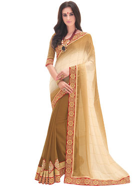 Indian Women Embroidered Saree Satin Chiffon & Georgette Saree -Ga20211