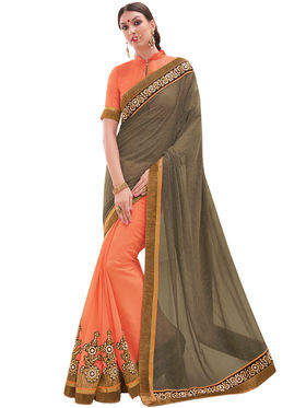 Indian Women Embroidered Georgette & Georgette Saree -Ga20219