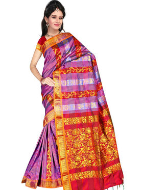South Silk Handloom Saree -Gkss 1008