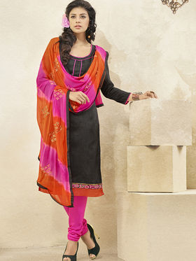 Viva N Diva Banglori Patch Work Unstitched Dress Material Gazee-8012