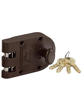 Godrej Ultra Vertibolt 1CK Rim Lock - Texture Bown
