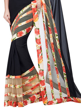 Shonaya Printed Georgette & Net Sarees -Hiamr-2103