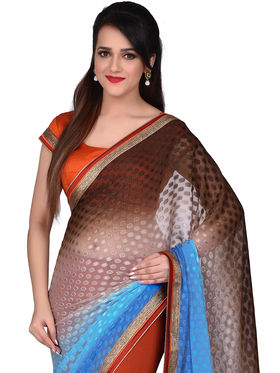 Shonaya Patch work Georgette Unstitched Sarees -Hiimx-6040