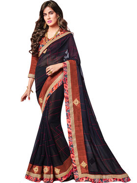 Indian Women Designer Printed Georgette Saree -Ic11208