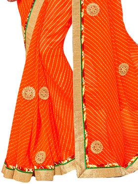 Indian Women Designer Printed Georgette Saree -Ic11212