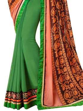 Indian Women Designer Printed Georgette Saree -Ic11216