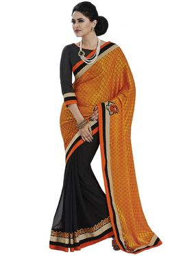 Pack of 3 Bahubali Embroidered Sarees - GAL912