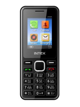 Intex ATOM Dual SIM Mobile Phone - Black