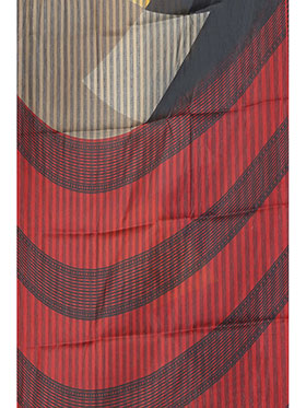 Ishin Printed Art Silk Saree - Multicolor-ISHIN-957