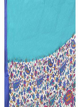 Ishin Printed Art Silk Saree - Multicolor-ISHIN-959