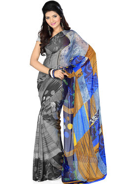 Pack of 3 Ishin Georgette Printed Saree - Combo-414