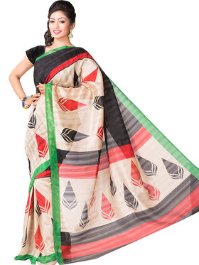 Ishin Bhagalpuri Cotton Printed Saree - Multicolor - ISHIN-2411