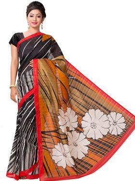 Ishin Bhagalpuri Silk Printed Saree - Multicolor - ISHIN-2420