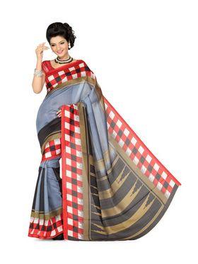 Combo of 2 Ishin Art Silk Printed Saree - Combo-398