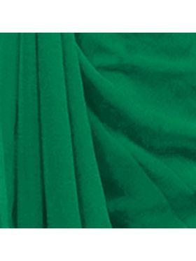 Khushali Fashion Georgette Plain Saree(Green)_JAZZ545