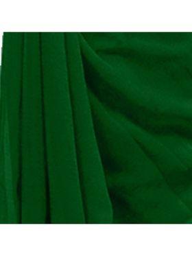 Khushali Fashion Georgette Plain Saree(Green)_JAZZ563