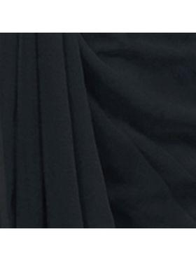 Khushali Fashion Georgette Plain Saree(Grey)_JAZZ591