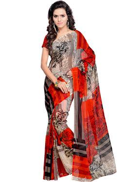 Arisha Georgette Printed Saree -Khgjsar6291