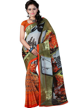 Arisha Georgette Printed Saree -Khgsstar111
