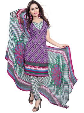 Khushali Fashion Crepe Printed Dress Material -Kpplk10005