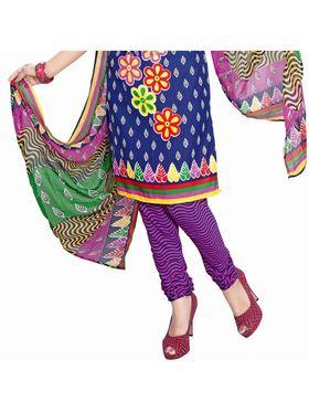 Khushali Fashion Crepe Printed Dress Material -Kpplk10009