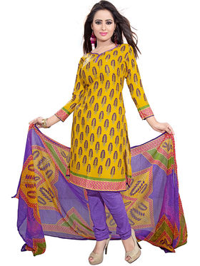 Khushali Fashion Crepe Printed Dress Material -Kpplk10012