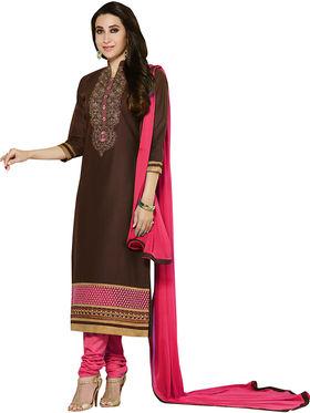 Khushali Fashion Cotton Embroidered Unstitched Dress Material -KRSH4354