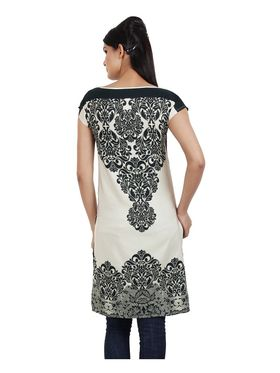 Arisha Cotton Printed Kurti KRT6035_Blk