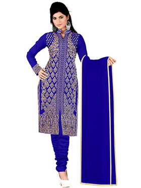 Khushali Fashion Georgette Embroidered Unstitched Dress Material -KY4004