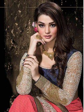 Viva N Diva Georgette Floral Embroidery Saree -Kalki-03-3001