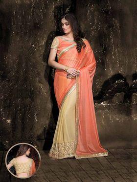 Viva N Diva Chiffon Floral Embroidery Saree -Kalki-03-3011