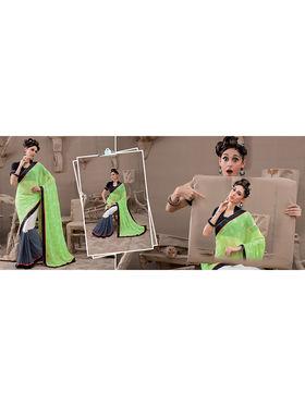 Viva N Diva Georgette and Chiffon Embroidered Saree Kanvi-2255