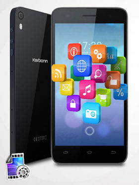 Karbonn Mach Two Titanium S360 Android Kitkat, 8 MP Camera, Octa Core Processor, 1 GB RAM, 8 GB ROM - Black & Blue