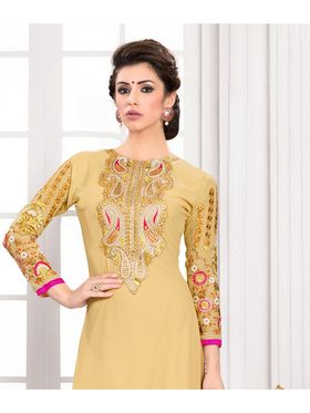 Viva N Diva Semi Stitched Georgette Embroidered Suit Kesa-17