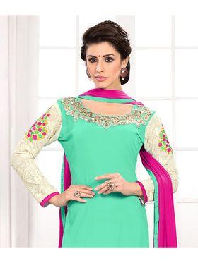 Viva N Diva Semi Stitched Georgette Embroidered Suit Kesa-24